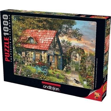Anatolian  Puzzle 1000 Parça Kulübe 1032 Renkli
